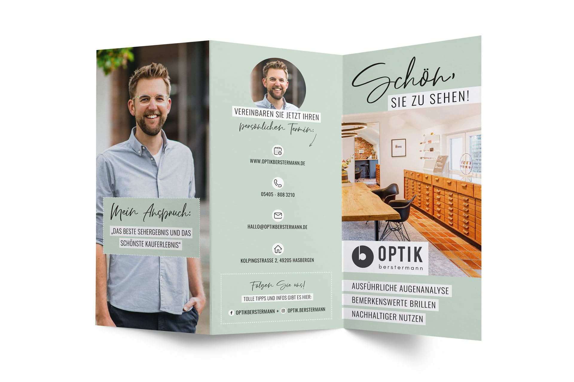 Flyer-Design Optik Berstermann