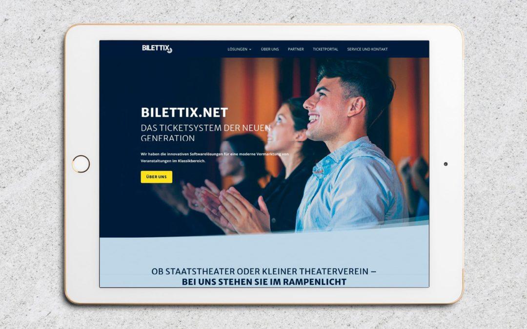 Webdesign bilettix